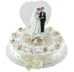 Bruidspaar Op Taart